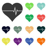 Heart icons — Stock Photo