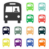 Bus icons — Stock Photo