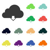 Cloud computing download icons — Stock Photo
