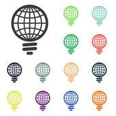 Global light bulb icons — Stock fotografie