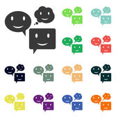 Smile talking bubble icons — Stock Photo