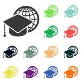 Internet training icons — Foto de Stock