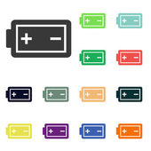 Battery icons — Stock Photo