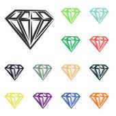 Diamond icons — Stock Photo
