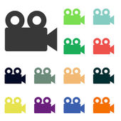 Video camera icons — Stock Photo