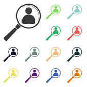 Looking for employee search icons — Stock Photo