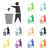 Recycling sign label icons — Stock Photo