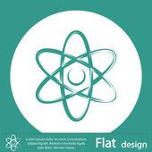 символ атома — Стоковое фото