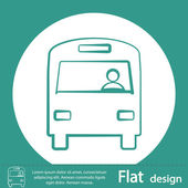 Bus icon design — Stock Photo