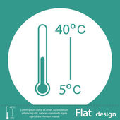 Thermometer icon design — Stock Photo