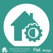 House icon flat design — Stock Photo