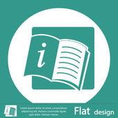 Green open book icon — Stockfoto