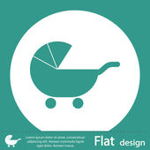 Baby Carriage Silhouette icon — Stock Photo