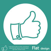 Thumb up green icon — Stock Photo
