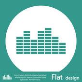Green soundwave music icon — Stok fotoğraf
