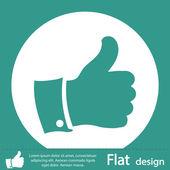Thumb up green icon — Stock Photo