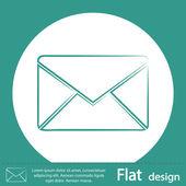Green envelope mail icon — Stok fotoğraf