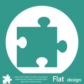 Green puzzle piece icon — Foto de Stock