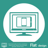 Green set of electronic devices icon — Stock fotografie