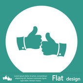 Thumb up green icon — Foto de Stock