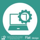 Laptop icon design — Stock Photo