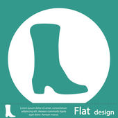 Shoe flat icon — Stock Photo