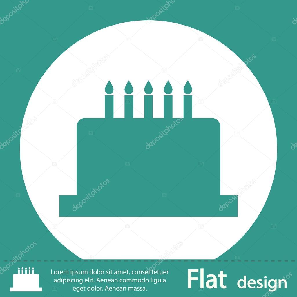 Download - Green birthday cake icon — Stock Image #51573123