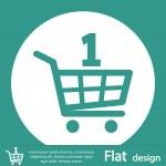 Shopping cart icon — Stock Photo #51581345