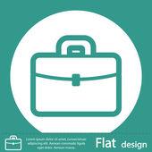 Briefcase icon design — Stock Photo
