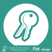Key Icon design — Fotografia Stock