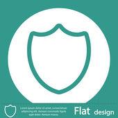 Shield icon design — Stock Photo