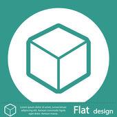 Icône de conception de logo 3D cube — Photo
