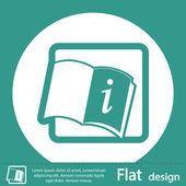 Information book icon — Stock Photo