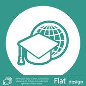 Icono de gorra de graduación — Foto de Stock
