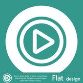 Jouer l'icône du bouton web — Photo