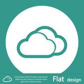Cloud icon flat design — Stock Photo