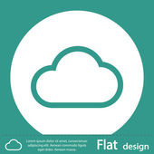 Cloud icon flat design — Stock Photo