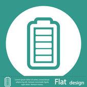 Icona di carico della batteria — Foto Stock
