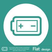 Battery icon design — Stock Photo