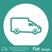 Delivery car icon — Stock Photo