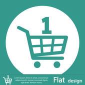 Icona di carrello dello shopping — Foto Stock