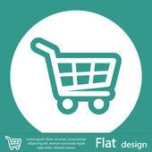 ícone de carrinho de compras — Foto Stock