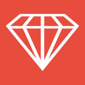 Diamond Icon design — Stock Photo