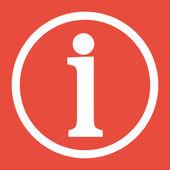 Ikona informacje znak — Zdjęcie stockowe