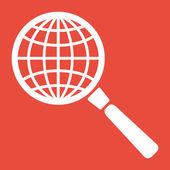 Terra con l'icona lente di ingrandimento — Foto de Stock