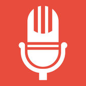 Microphone icon design — Stock Photo
