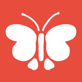 Butterfly icon illustration. — Stock Photo