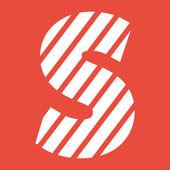 Letter S icon. — Stock Photo