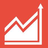 Graph chart Icon — Stock Photo