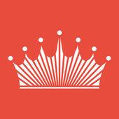 Design plano de ícone de coroa — Fotografia Stock